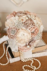 Vintage-Inspired-Cream-and-Ivory-Satin-and-Lace-Bridal-Bouquet