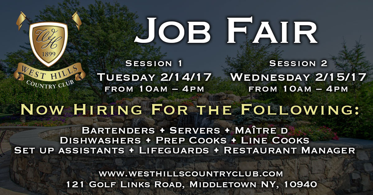 West Hills Job Fair Middletown NY