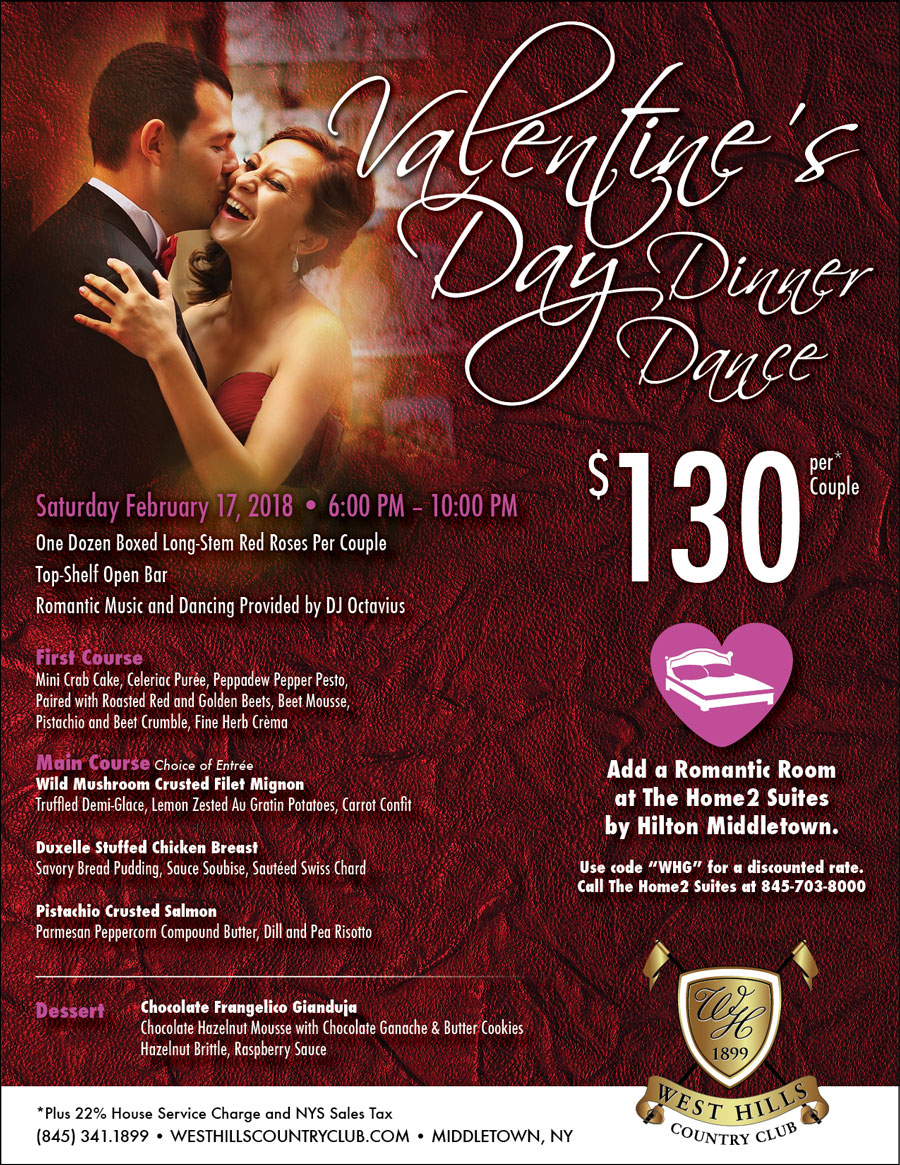 Valentine S Day Dinner Dance West Hills Country Club