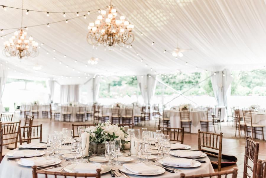 West Hills Country Club Tent Wedding Trisha Keeler Photography 3
