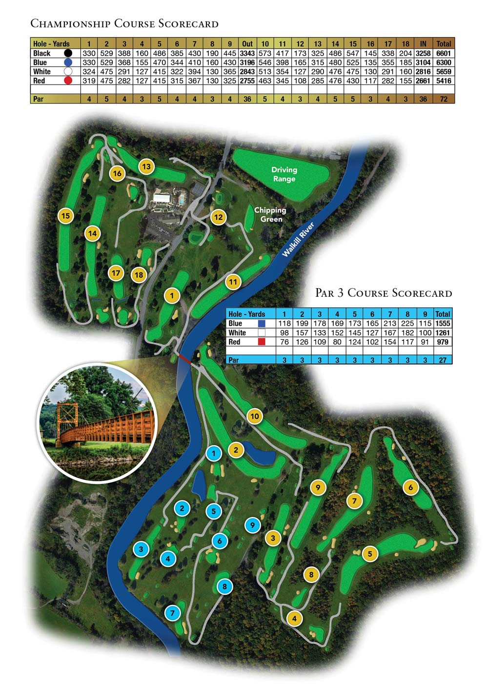 West Hills Country Club Golf Course Map