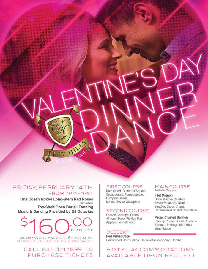 West Hills Country Club Valentine's Day Dinner Dance